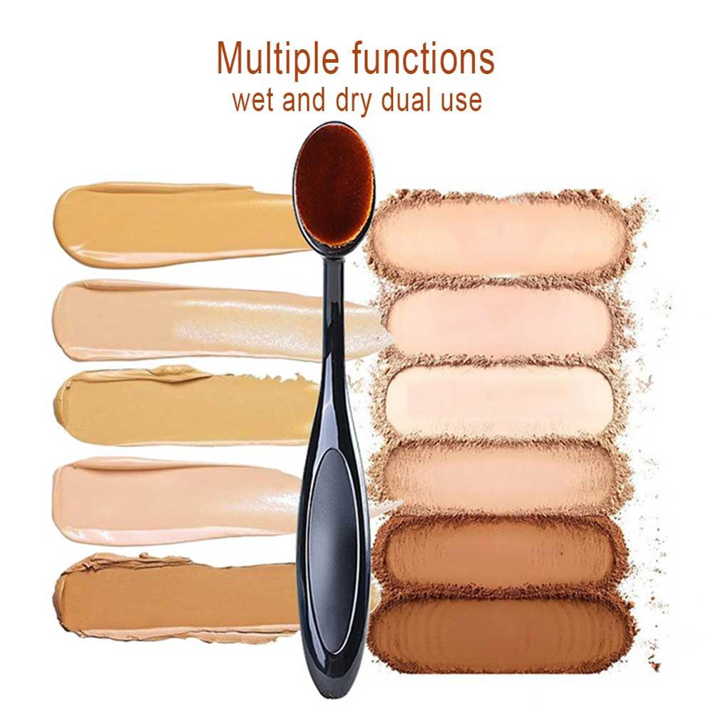 Foundation Powder Blush Eyebrow Soft Makeup Brushes for Eyeshadow Blending Make Up Brush Toothbrush Oval Cosmetic Makeup Tool image