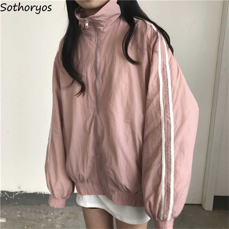 Basic Jackets Women Hip Hop Loose Couple Clothes Zipper Harajuku Pockets Ulzzang Korean Style Womens Windproof Womens Jacket