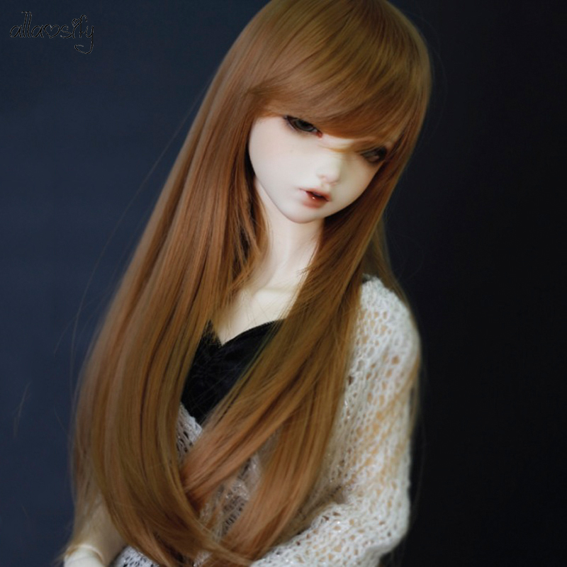 <font><b>1/3</b></font> <font><b>1/4</b></font> scale <font><b>BJD</b></font> wig black hair for <font><b>BJD</b></font>/SD doll accessories Free Shipping Allaosify image