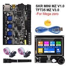 Bigtreetech skr mini mz v1.0 + tft35 mz v3.0 placa de controle da tela toque tmc2209 peças da impressora 3d para anycúbico mega zero atualização