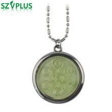 Кулон биодиск с отрицательными ионами 5000-6000CC светло-зеленый Нержавеющая сталь цепочки подвески, ожерелья Квантовая скалярная энергия