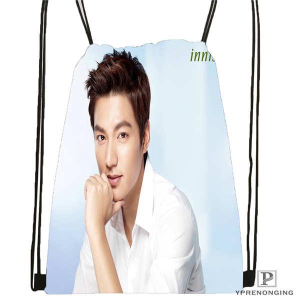 Custom Lee-Min-Ho-Actor- Drawstring Backpack Bag Cute Daypack Kids Satchel (Black Back) 31x40cm#180611-01-46