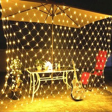 LED Net Mesh Fairy String Light 220V  Wedding Party  Lights Chain Decoration Garden Lamp Fairy Lights Net Garland slingers