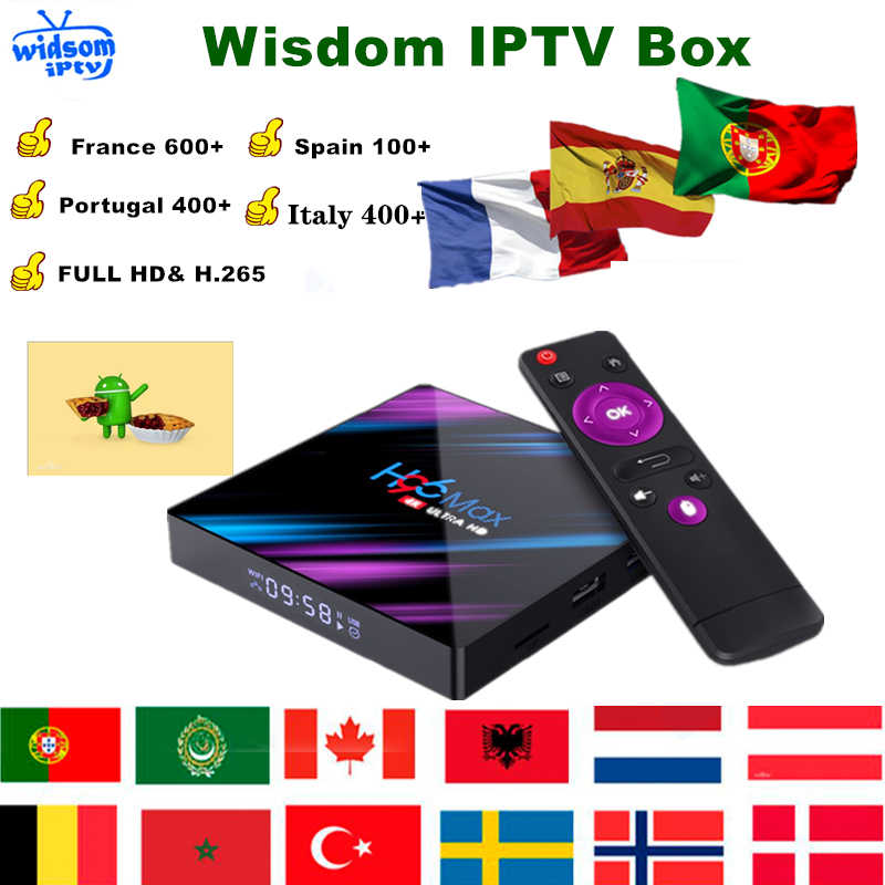 H96 Max3318 kutusu android 9.0 fransa IPTV abonelik arapça cezayir almanya belçika hollanda fransız IPTV kodu Android M3U