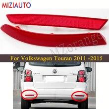 цена на Rear Bumper Reflector Light For Volkswagen Touran 2011 2012 2013 2014 2015 Brake Light For all car product Stop Tail Fog lamp