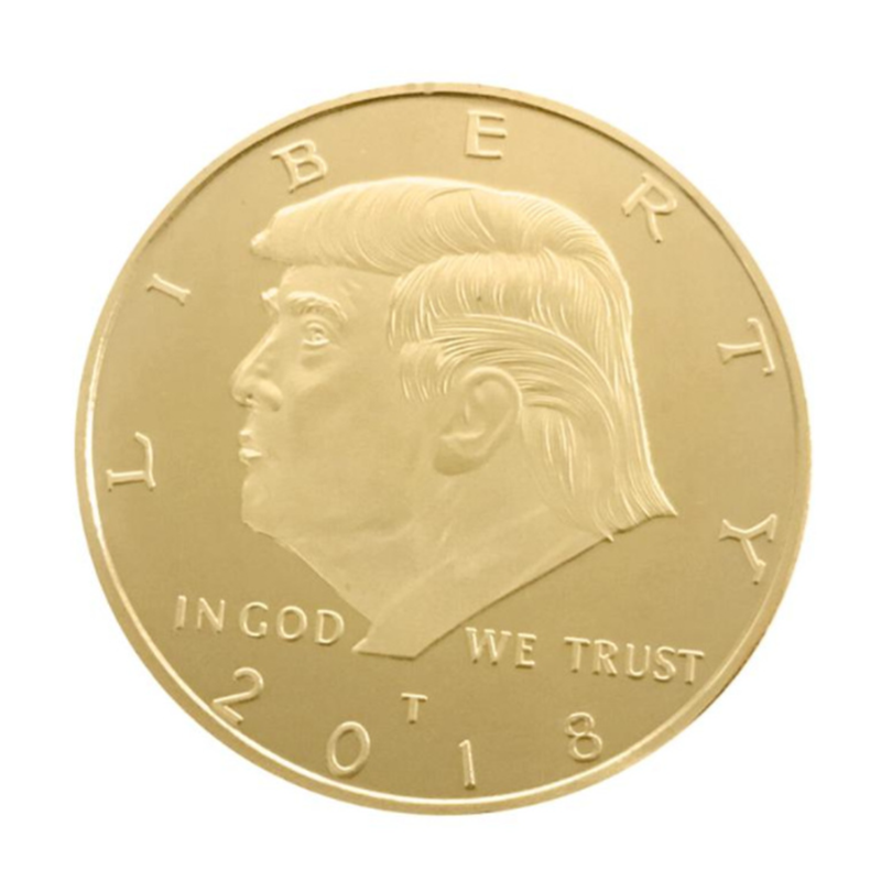 2020 Gold Coin American 45th President Donald Trump Coin US White House The Statue of Liberty Silver Metal Coin Collection Mar21