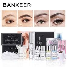 BANXEER Lash Lift Kit Perming Brow Laminate Nature Eyelash and Brow Enhancer For Long-lasting Feathery Eyebrow Curling Lash