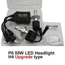 A Pair Canbus 10400Lm P6 LumiLEDs LED Car Headlight Fog Light Conversion Kit H4 9003 HB2 High Low Beam Bulb Lamp 11V-30V DC