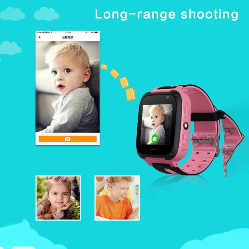 Kids Smart Watch S4 Waterproof Smart Children Watch Monitor Positioning SIM Card Dial SOS Camera for Android IOS Phones Locator in Smart Watches from Consumer Electronics