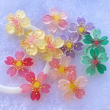 10pcs New Cute resin Mini Mixed luminous flowers flat back Cabochon Scrapbook Kawaii DIY Embellishments Accessories E36