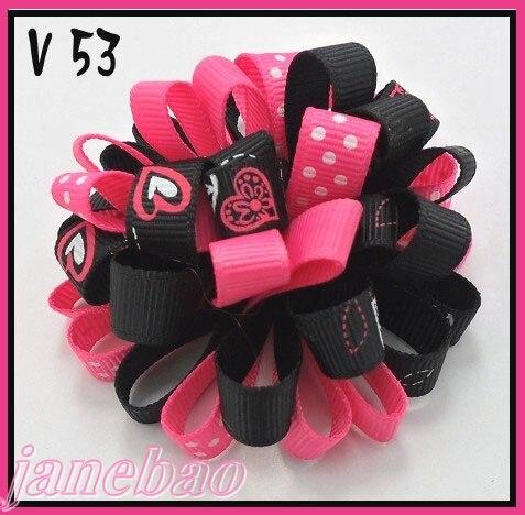 60 шт., бант для волос для девочек, заколки с сердечками на День святого Валентина, заколки для волос с сердечками