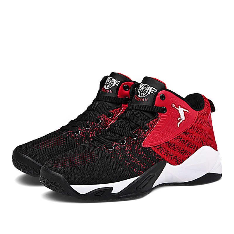 รองเท้าบาสเก็ตบอลใหม่รองเท้าผู้ชายAir Cushionบาสเกตบอลรองเท้าผ้าใบกันกระแทกรองเท้าคู่Anti-Slipรองเท้าJordanรองเท้า