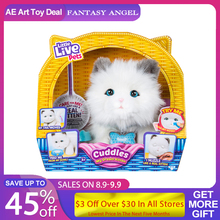 Little Live Pets Cuddles My Dream Kitten Toy For Girls Three Cats Toys For Children Gift White Kitty Pet Plush Toys Electronic