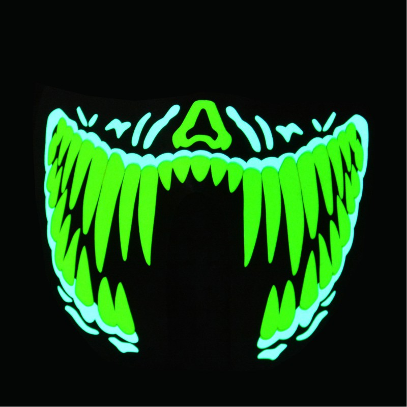 LED Masks Clothing Big <font><b>Terror</b></font> Masks Cold Light Helmet Fire Halloween Festival Party Glowing Dance Steady image
