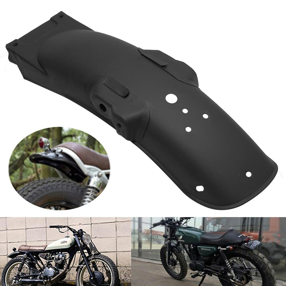 Motorcycle Black Universal Cafe Racer Rear Retro Metal Fender Mudguard Cover For Honda CG125 Yamaha Suzuki BMW