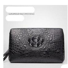 FENGE crocodile  men clutch bag leather clutch bag crocodile leather commercial clutch bag crocodile leather long horizontal цена и фото
