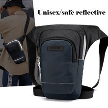 Nieuwe Leisure Outdoor Sport Been Dij Pack Mannen Rijden Taille Fanny Bagtactical Nacht Reflecterende Borst Sling Packs Schoudertassen(China)