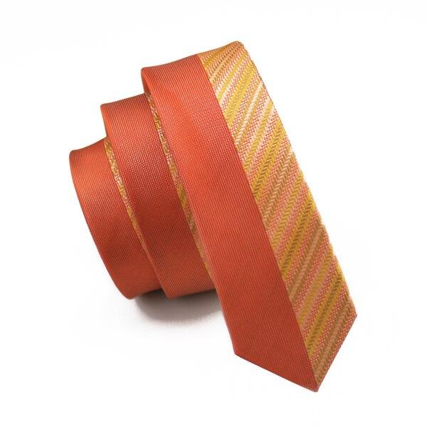5,5 см Модный тонкий галстук золотого и оранжевого цветов, Шелковый жаккардовый галстук для мужчин, свадебные, вечерние, повседневные, Прямая поставка - Цвет: HH-253