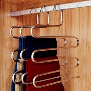 4pcs Trousers Organizer Clothes Storage Hanger Rack For Jeans Trouser Scarf Tie Towels Pants Hanger Rack Trouser Closet
