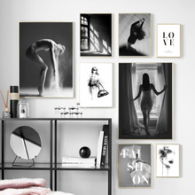 Dance Girl Fashion Sexy Girls Wall Art Canvas Painting Nordic Posters And Prints Black White Pictures For Living Room