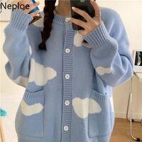 Maglione coreano Neploe Cardigan invernale autunno 2021 abbigliamento donna maglia maglione carino sciolto Cardigan Harajuku oversize cappotti Sueter