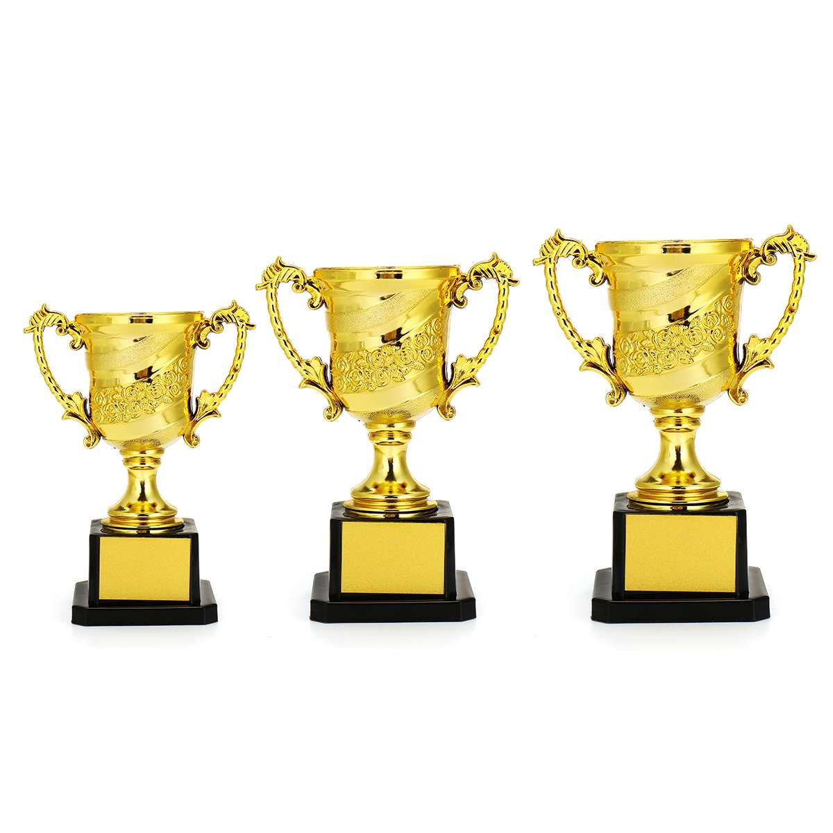 Golden Microphone Trophies Customized Awards for Singers,Collections Tournaments,Party Celebrations Award Ceremony Desk Decor Gifts 11 Resin