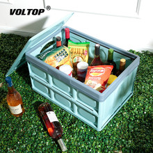 car folding storage box stowing tidying vehicle tool box multi use tools organizer plastic finishing box interior accessories 30L Folding Car Trunk Organizer Storage Box Stowing Tidying Car Accessories Multi-function 43x28x23cm