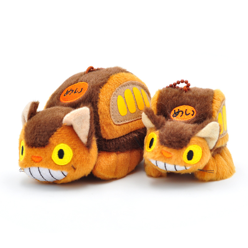 Totoro Bus <font><b>Plush</b></font> <font><b>Toys</b></font> Kawaii Keychains Stuffed Animals Totoro Bag <font><b>Key</b></font> Ring Pulsh <font><b>Toys</b></font> For Children Cat <font><b>Plush</b></font> Dolls Birthday Gift image
