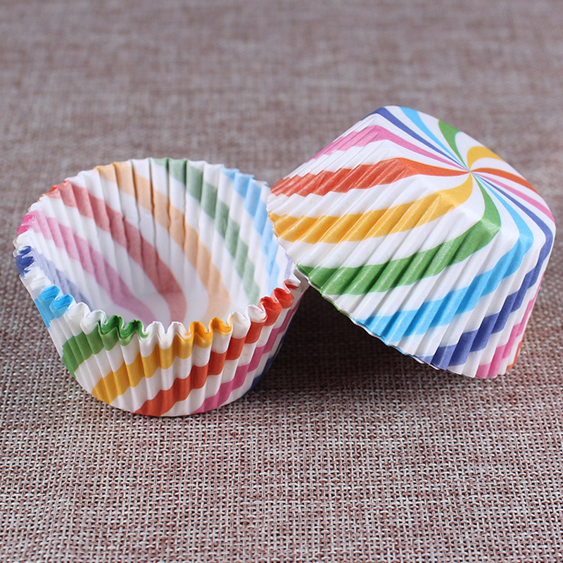 Rainbow Color Cupcake Tins 2