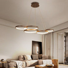 Nordic lamp Creative LED Chandeliers Aluminum Brown modern chandelier For Living Room Dining Room Suspension Luminaire