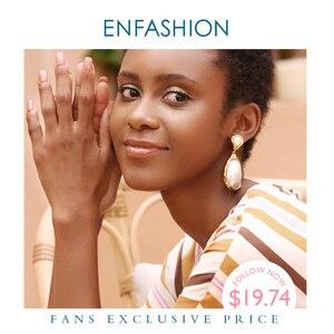 Image 1 - Enfashionヴィンテージ大きな巻き貝女性ゴールドカラーナチュラル母の真珠のイヤリングファッションジュエリーoorbellen E191024