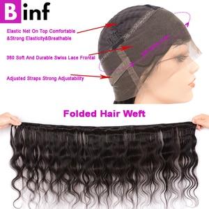Image 3 - 360, парик на сетке с передней частью, волнистые волосы, предварительно выщипанные детскими искусственными волосами, бразильский парик на сетке 360, цвет 1B для женщин