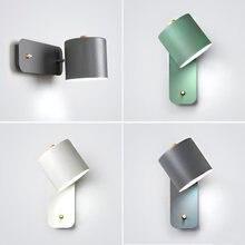 Скандинавский простой светодиодный настенный светильник с вращающимся
