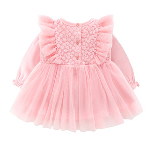 Image 3 - New Born Baby Girl Clothes Sets Formal  Lace Baptism Dress Baby Girl for Party Wedding 0 3 6 Months Infant Christening Dress