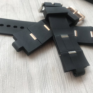 Image 2 - MERJUST גבר רצועת השעון שחור גומי שעון החלפה רצועת עבור bvlgari bvlg Diagono24mm x 8mm drop שיפ