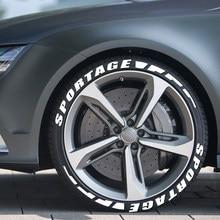 Auto Reifen Rad Buchstaben 3D Permanent Gummi Aufkleber Für Kia Sportage 3 4 QL Auto Reifen Letterings Rad Label Aufkleber zubehör