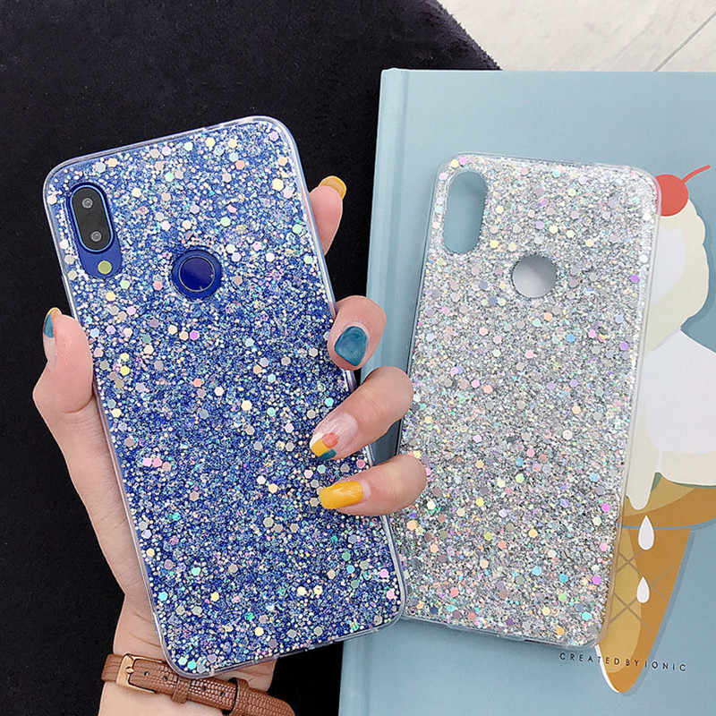Luxe Siliconen Bling Glitter Crystal Pailletten Telefoon Case Voor Xiaomi 8 9 Se Lite Redmi 5 Plus 6 Note 7 6 5 Pro Soft Bling Cover