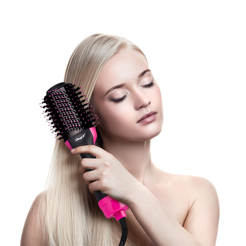 Professional Hair Dryer Fast Hair Straightener Comb Electric Roller Salon Hot Air Paddle Styling Brush Hair Straightener Curler