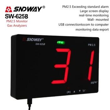 Analizatory gazu SNDWAY SW-625B PM2 5 miernik gazu detektor czujnik jakości powietrza Monitor dane USB eksport CO2 miernik detektor gazu w domu tanie i dobre opinie CN (pochodzenie) Elektryczne Rohs 0~500ug m3 50 0 3um 98 greater than or equal to 0 5um 453g 210x130x28mm via USB cable