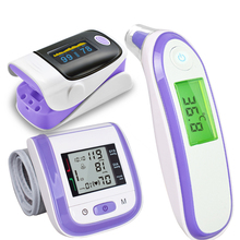 Baby Health Measurement Kit with Digital Infrared Thermometer Pulse Oximeter Wrist Blood Pressure Monitor with Gift Box