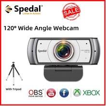 Spedal C920 Pro 120 ° Weitwinkel Webcam Volle HD 1080P mit Stativ 【Official Software】 USB Web Kamera Software steuerung Für Mac PC