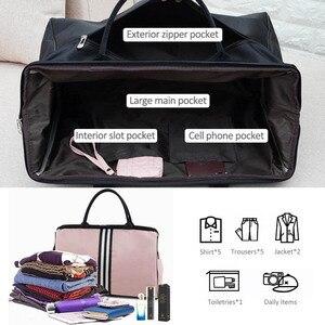 Image 2 - Sports Gym Bag Travel Handbag Women Traveling Bags Lady Luggage Tas Sac De Sport Duffle Gymtas 2020 Striped OutdoorB ag XA286D