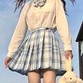 Women Pleated Skirts Japanese School Uniform High Waist Sexy Cute Mini Plaid Skirt Summer JK Uniform Students Clothes 17 Color