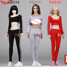 Scale 1/6 Dresses Fire Girl Toys FG034/FG035/FG036 Female Sportswear Apparel for 1/6th 12 Inch Doll Toys Action Figure Model стоимость