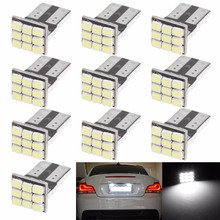 10 x T10 W5W 1206 9SMD Car LED Canbus Auto License Plate Light Instrument Lamp Auto Bulbs Car Lights patriot pa 445 t10 x treme
