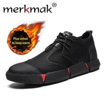 Merkmak Black Sneakers Men Lace Up Casual Shoes Breathable Lightweight Mesh Fashion Flats Outdoor Non-slip Men Shoes стоимость