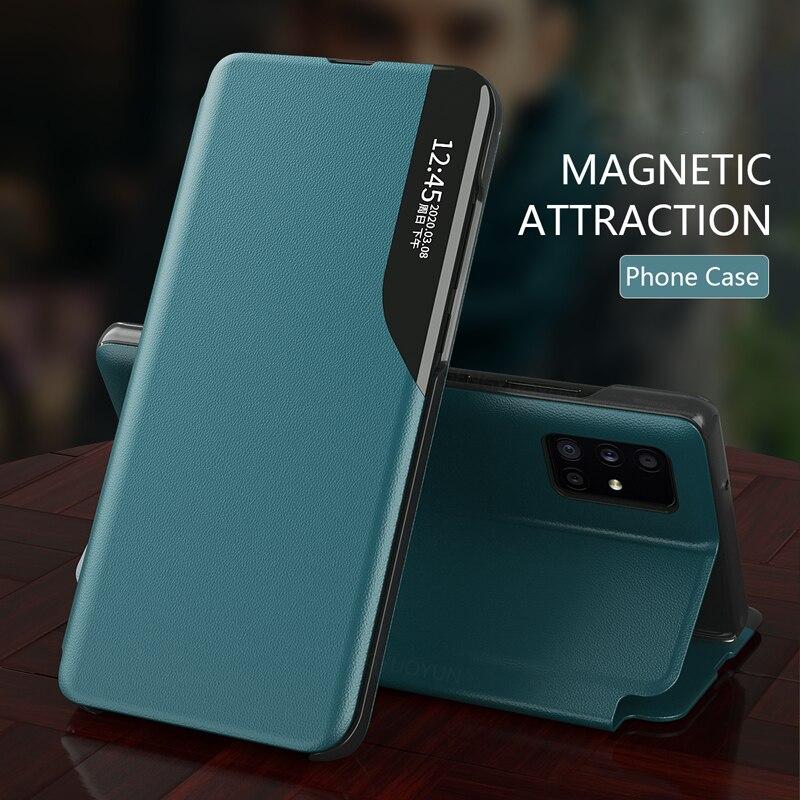 Кожаный магнитный смарт чехол для Samsung Galaxy A21s M51M31 M21 M11 A71 A51 A42 A32 A31 A10 A30 A50 A70|Бамперы|   | АлиЭкспресс