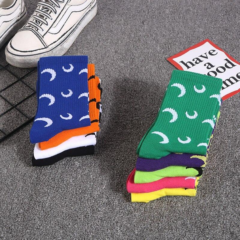 2019 new trend INS cartoon socks personality sports skateboard couple socks casual sports cotton socks in Men 39 s Socks from Underwear amp Sleepwears