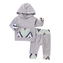 Get more info on the 2019 Baby Boy Clothing Toddler Baby Boy Clothes Geometric Print Hoodie Tops+Long Pants Outfits Set #23