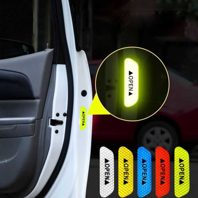 Car Open Reflective Tape Warning Mark sticker for Mercedes w203 w204 Benz Peugeot 307 206 308 Opel Astra h j g